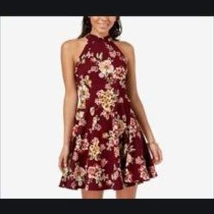 B. Darling Plum Floral Fit and Flare Dress